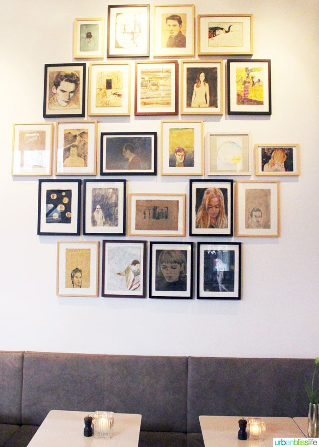 Picture display at Morgan and Mees hotel Amsterdam