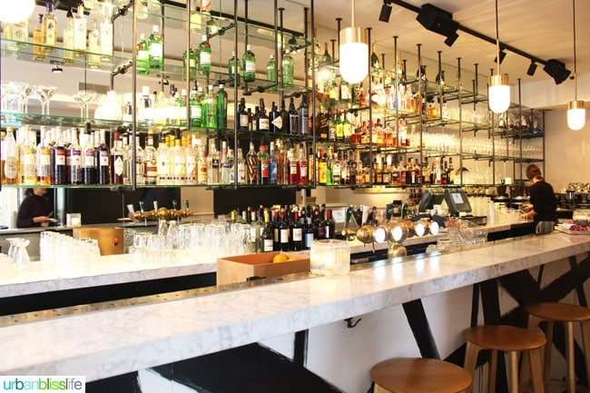Where to Stay in Amsterdam. Bar at Morgan and Mees hotel
