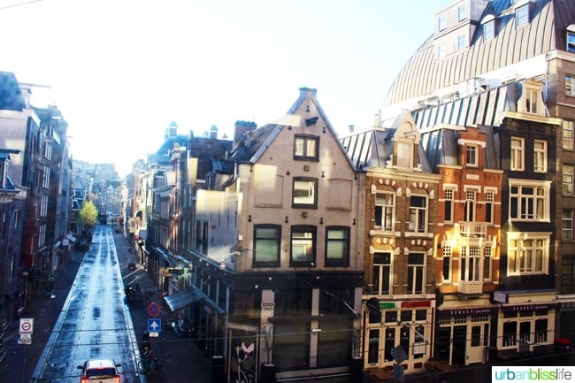 city view of Amsterdam from NH Carlton hotel