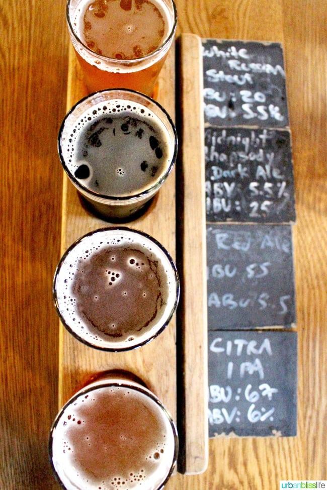 Vancouver BC Breweries: Big Rock Brewery beer sampler