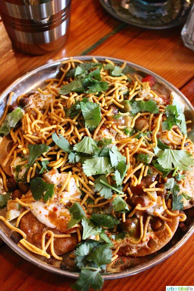 Bollywood Theater Papri Crackers and Dahi Papri Chaat recipe on UrbanBlissLife.com