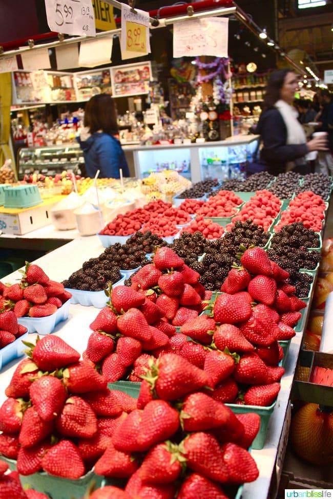 fruit stands in granville island