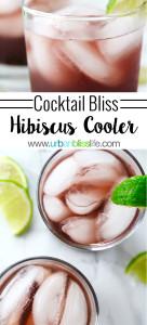 Hibiscus Cooler recipe on UrbanBlissLife.com