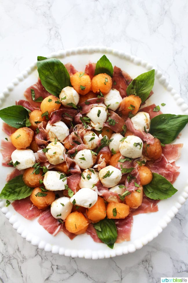 Melon and Prosciutto Salad with Mozzarella