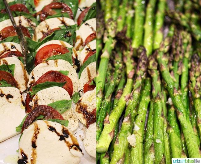 asparagus and caprese salad