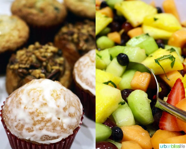 fruit and muffins