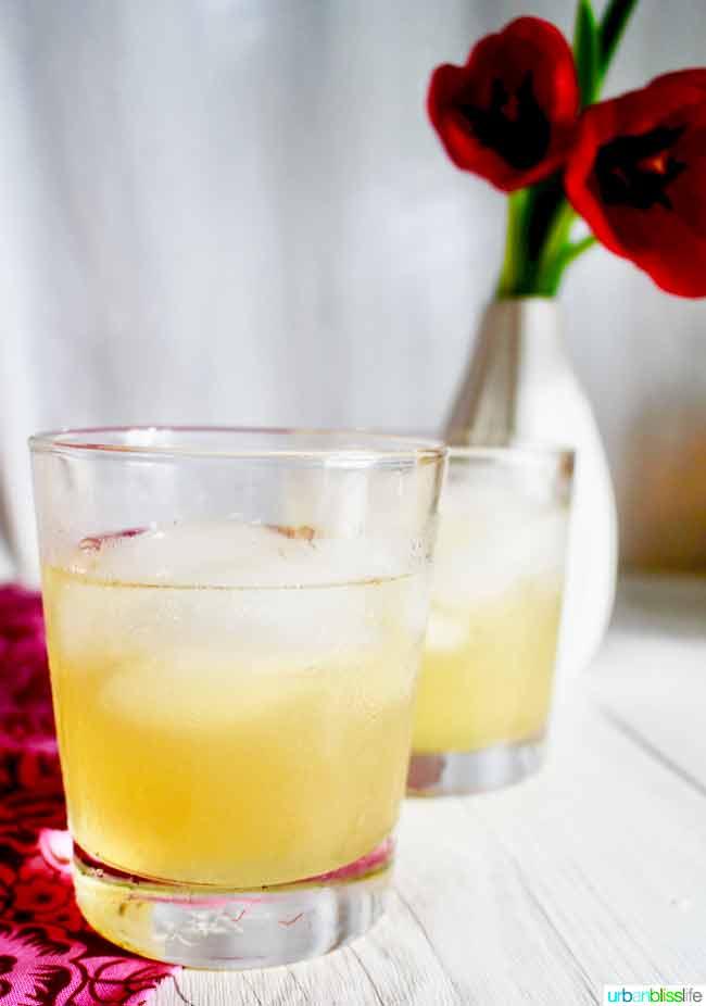 bourbon cocktail recipe with tangerine lemonade on UrbanBlissLife.com