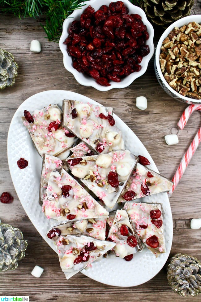 Holiday Cranberry Bark with Peppermint