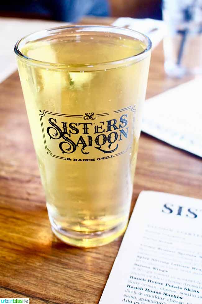 Sisters Saloon pint of beer