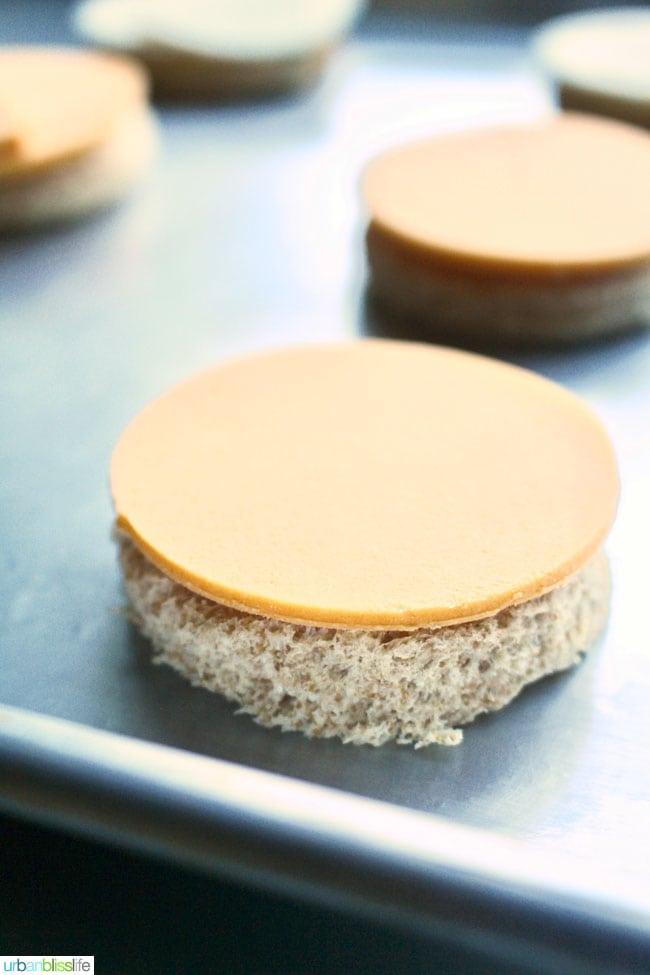 """Cheesy"" Vegan Tomato Pesto Bites recipe and Daiya Giveaway on UrbanBlissLife.com"