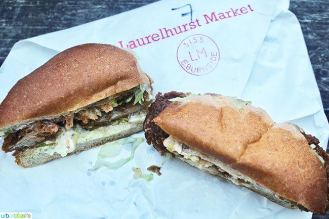 sandwiches from Laurelhurst market