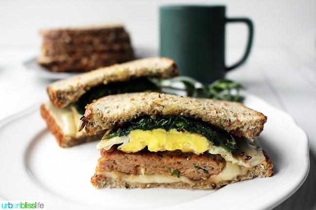 Healthier Sausage Egg Breakfast Sandwich