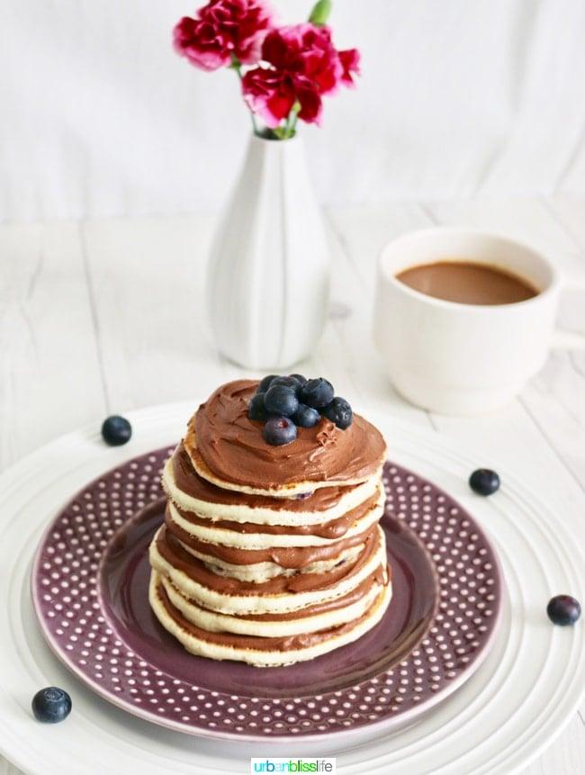 Chocolate Pancake Cake Stack