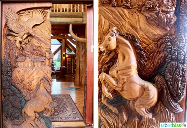 wood carved horse