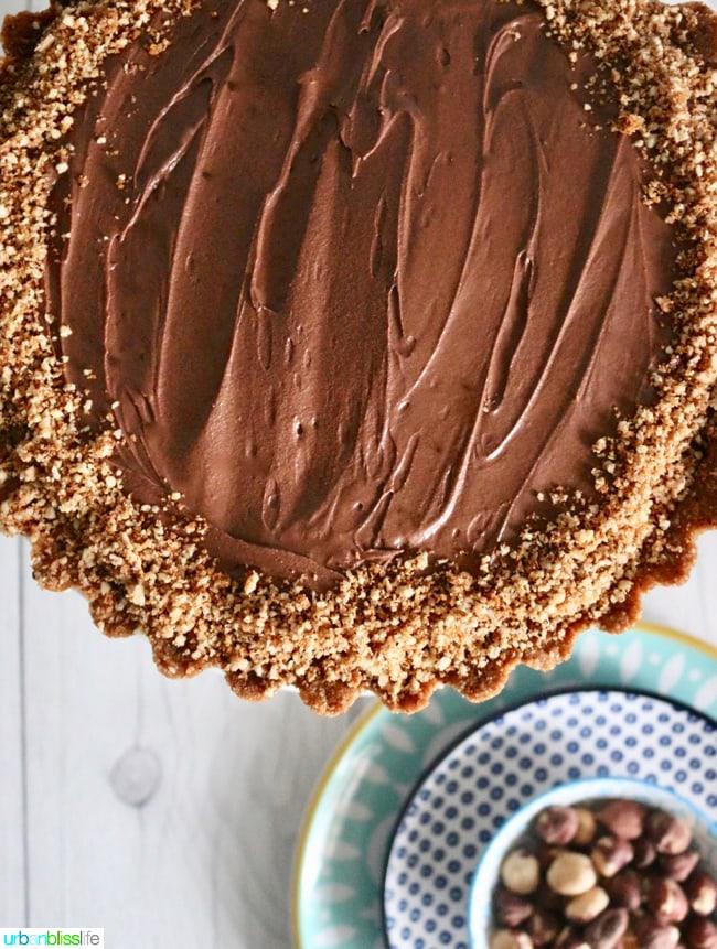 Chocolate Hazelnut Tart on UrbanBlissLife.com