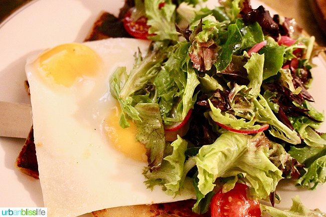 eggs and salad at Broder in Hood River