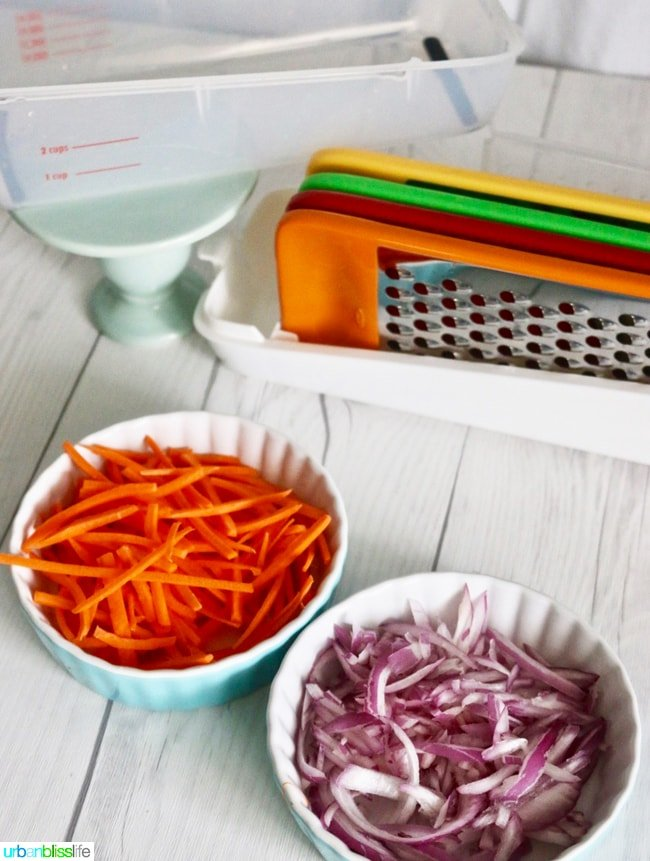 carrots and red onions