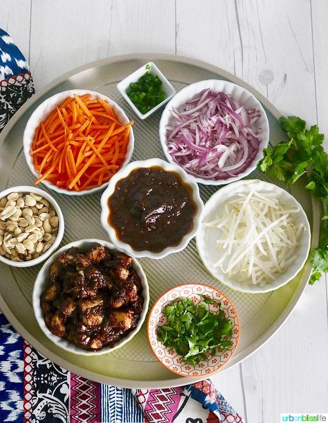 Thai Chicken Pizza ingredients