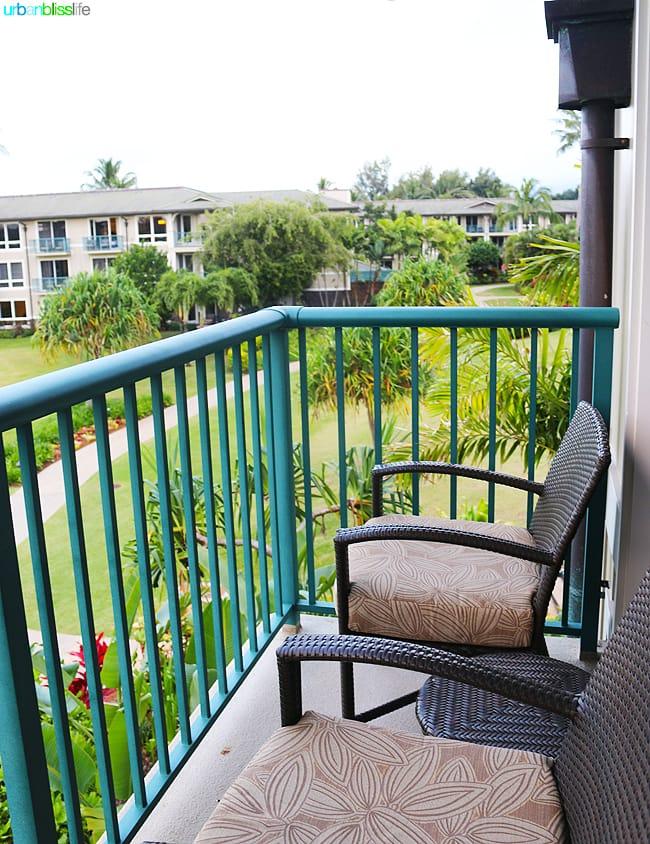 Lanai at Kauai Westin Princeville Ocean Resort Villas