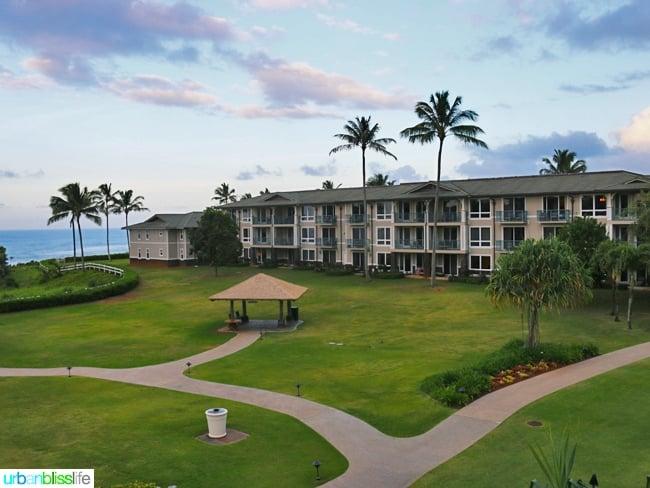 Kauai Westin Princeville Ocean Resort Villas with lush green landscaping