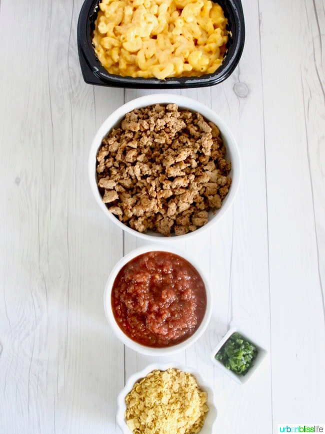taco mac and cheese ingredients