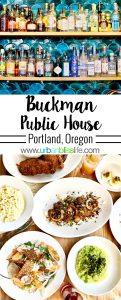 Buckman Public House restaurant in Portland, Oregon, on UrbanBlissLife.com