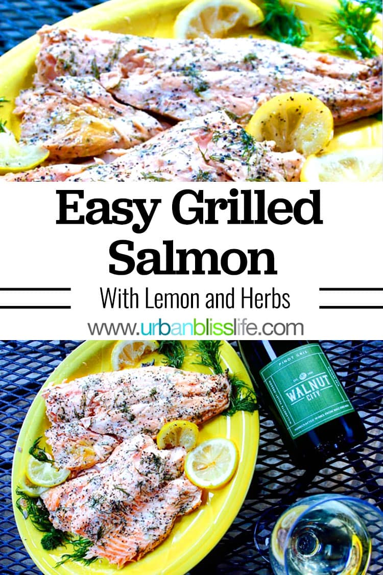 grilled salmon with lemon and herbs