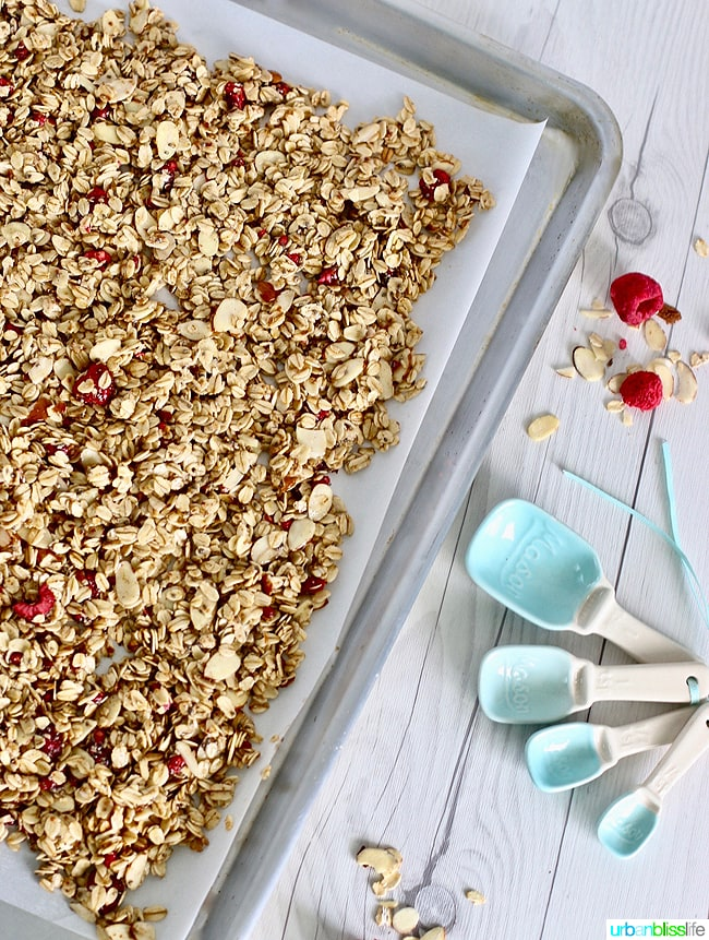 Homemade granola recipe with Brown Butter and Almonds