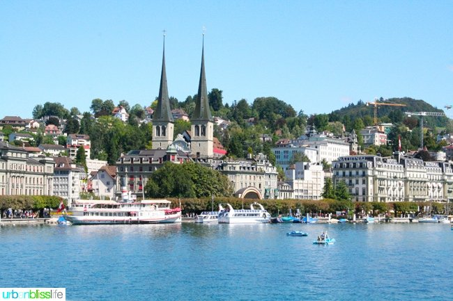 things to do in Lucerne: riverfront in lucerne, switzerland