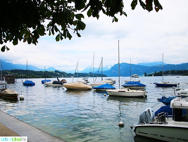 boats in the Vierwaldstattersee in Lucerne