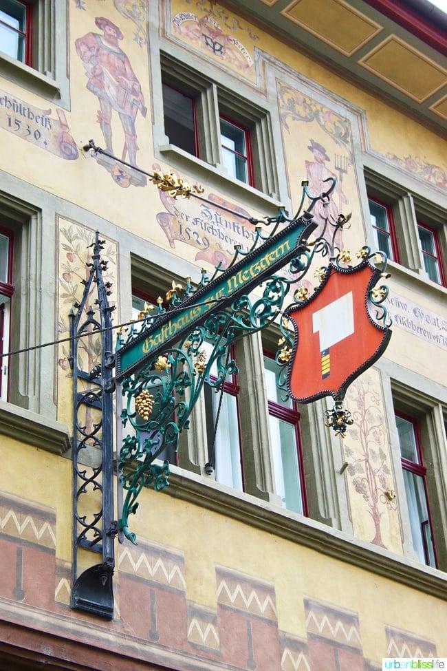 artistic facade of lucerne building