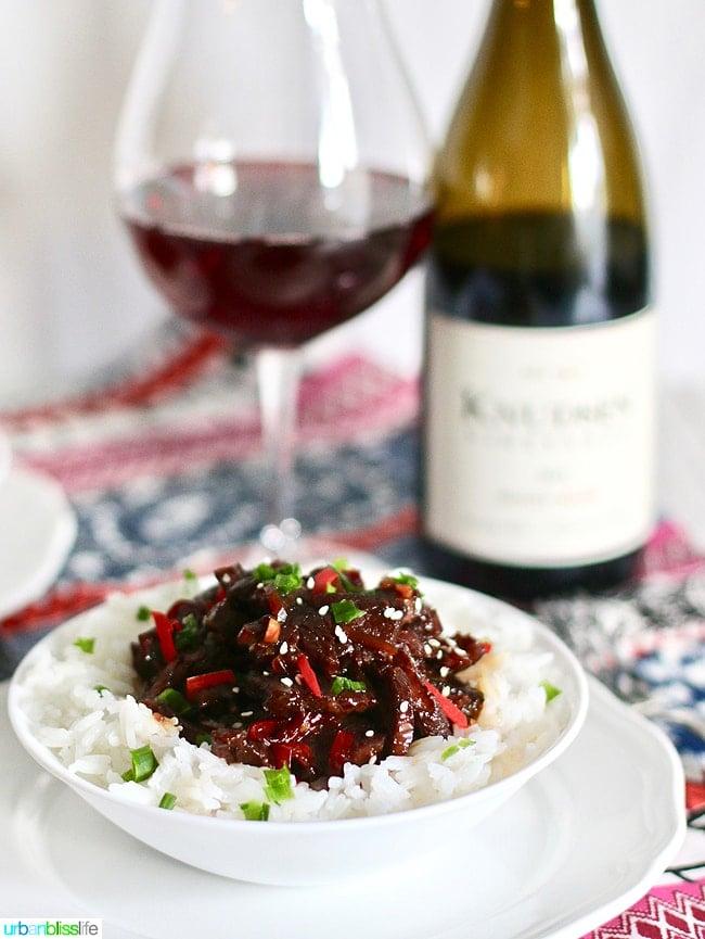 Mongolian Beef over rice