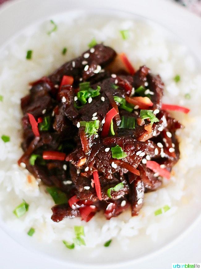 Mongolian Beef overhead