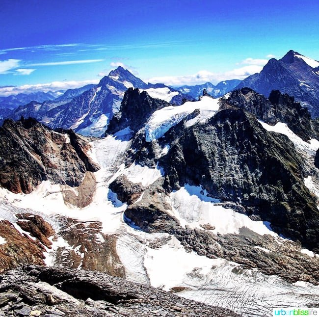 Enjoy a day of adventure and family fun on the Swiss Alps at Mount Titlis! Switzerland travel tips, Swiss Alps photos, and more on UrbanBlissLife.com.