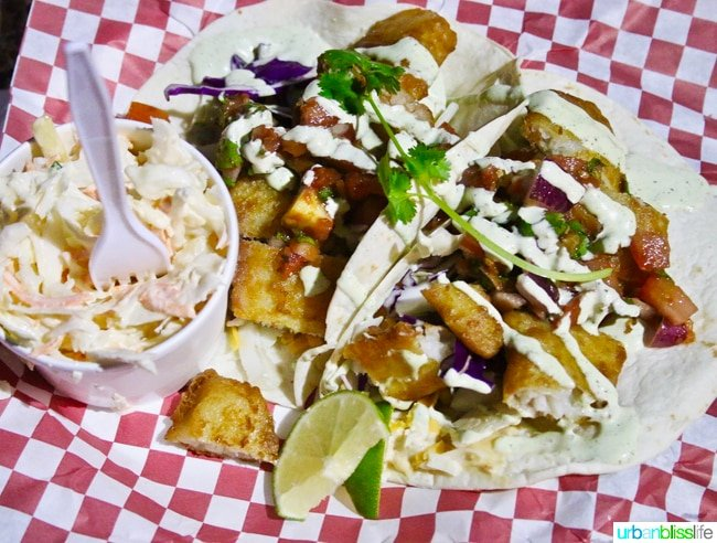 fish tacos from back porch bar and grill