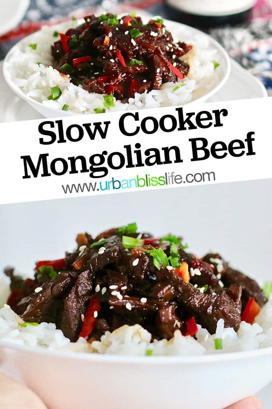 bowls of Slow Cooker Mongolian Beef