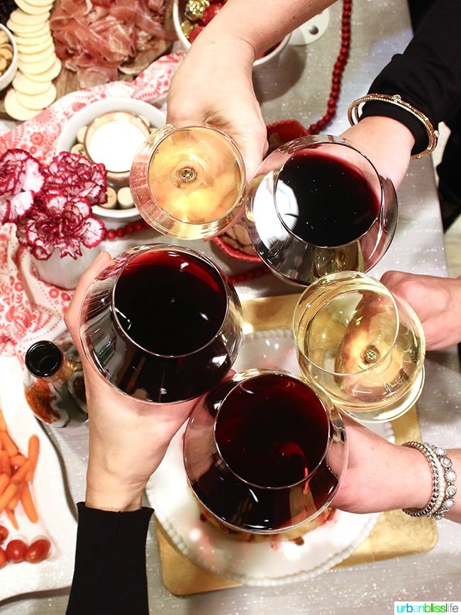 Holiday wine party with Cameron Hughes wines. UrbanBlissLife.com