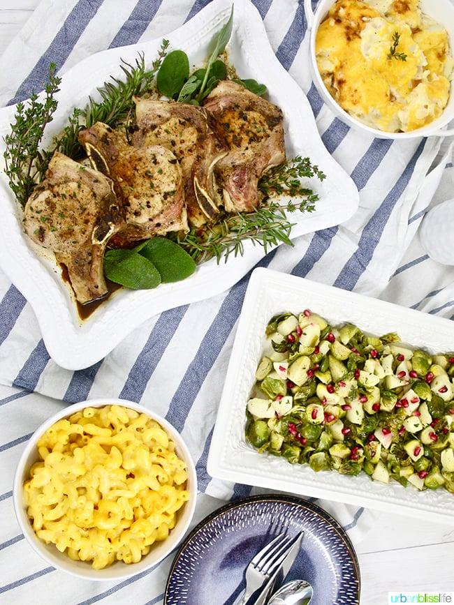 Easy weeknight meal: Apple cider pork chops recipe on UrbanBlissLife.com