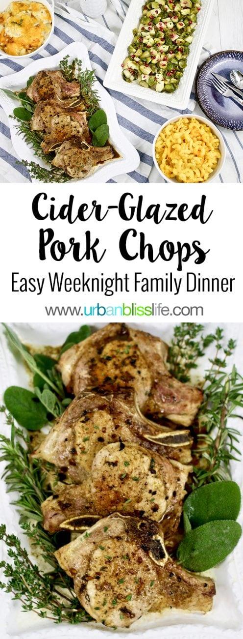 Apple Cider-glazed pork chops recipe on UrbanBlissLife.com