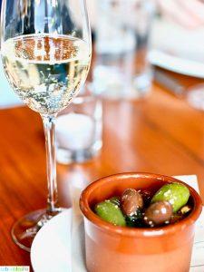 marinated olives at Ray restaurant, Israeli cuisine in Portland, Oregon. Restaurant review on UrbanBlissLife.com