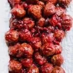 pressure cooker cranberry meatballs