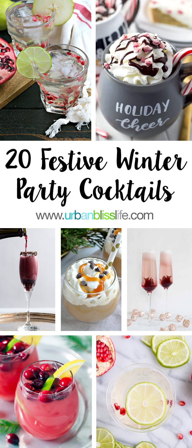 20 Festive Winter Cocktails on UrbanBlissLife.com