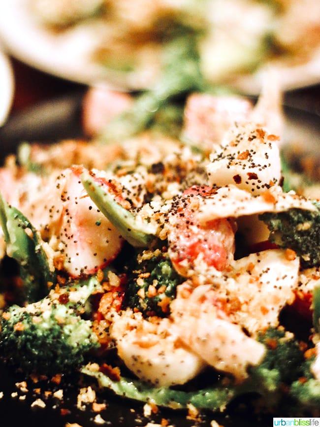 broccoli salad at at Bar Casa Vale restaurant in Portland, Oregon.