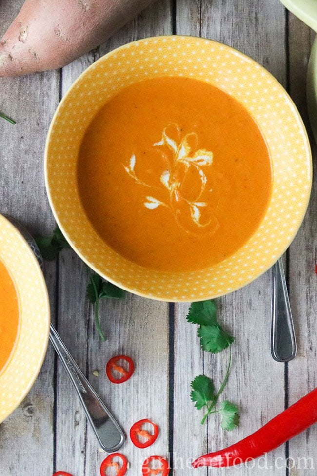 Curried Carrot and Sweet Potato Soup recipe