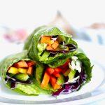 Rainbow Salad Rolls