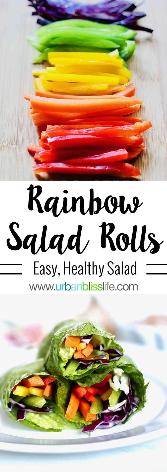 Whole30 salad recipe - Rainbow salad rolls