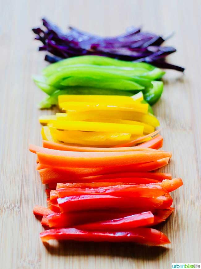 Rainbow salad ingredients -  - Whole30 salad recipe