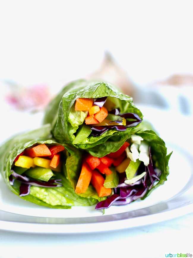 Rainbow salad rolls - Whole30 salad recipe