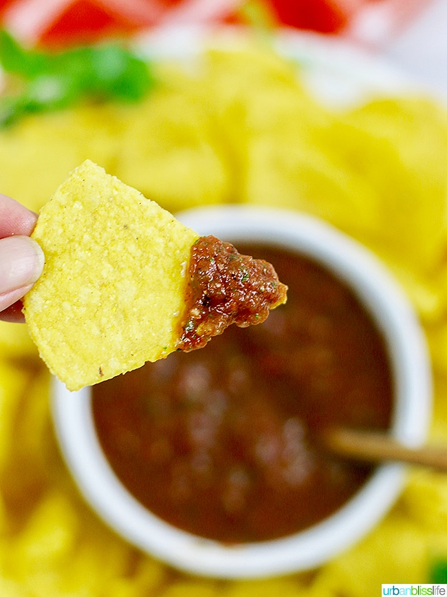 restaurant-style salsa and chips
