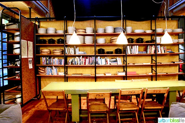 Library Communal Table at Suttle Lodge in Sisters, Oregon